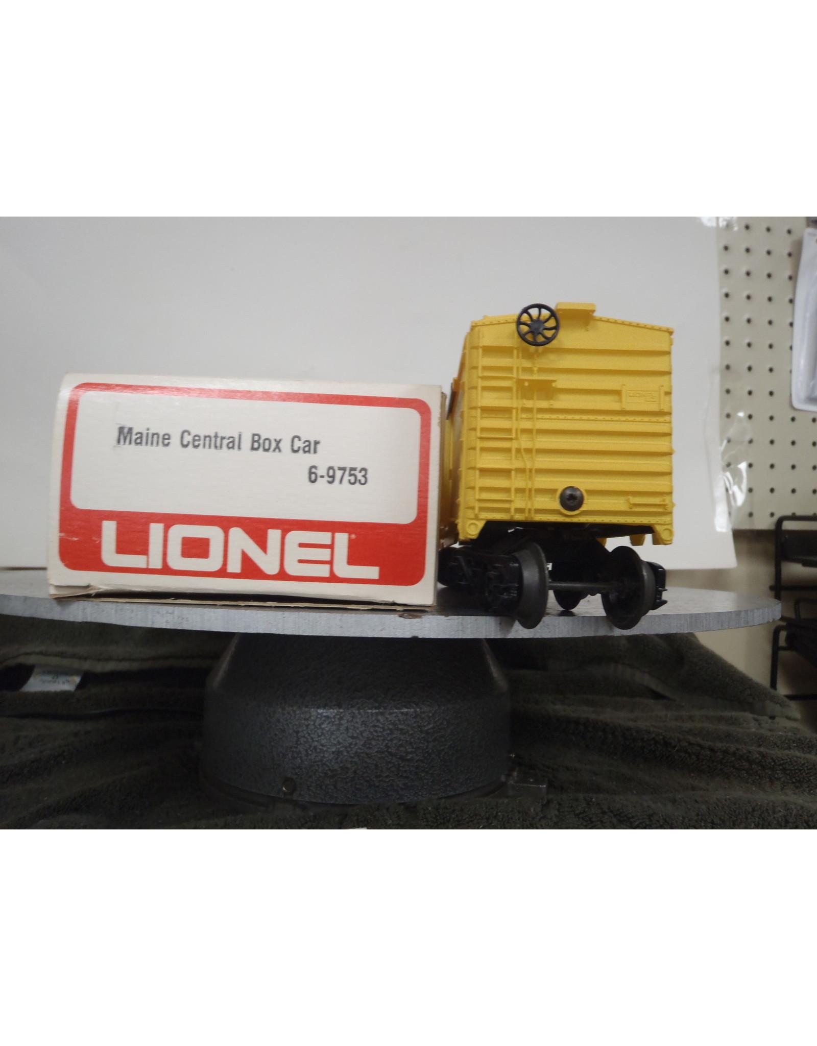 Lionel Boxcar Maine Central 9753