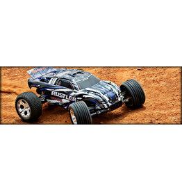 Traxxas Traxxas Rustler 2wd 1/10 RTR with charger w/xl-5 esc 37054-1 Blue