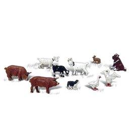 Woodland Scenics woodland scenics barnyard animals (10) n scale