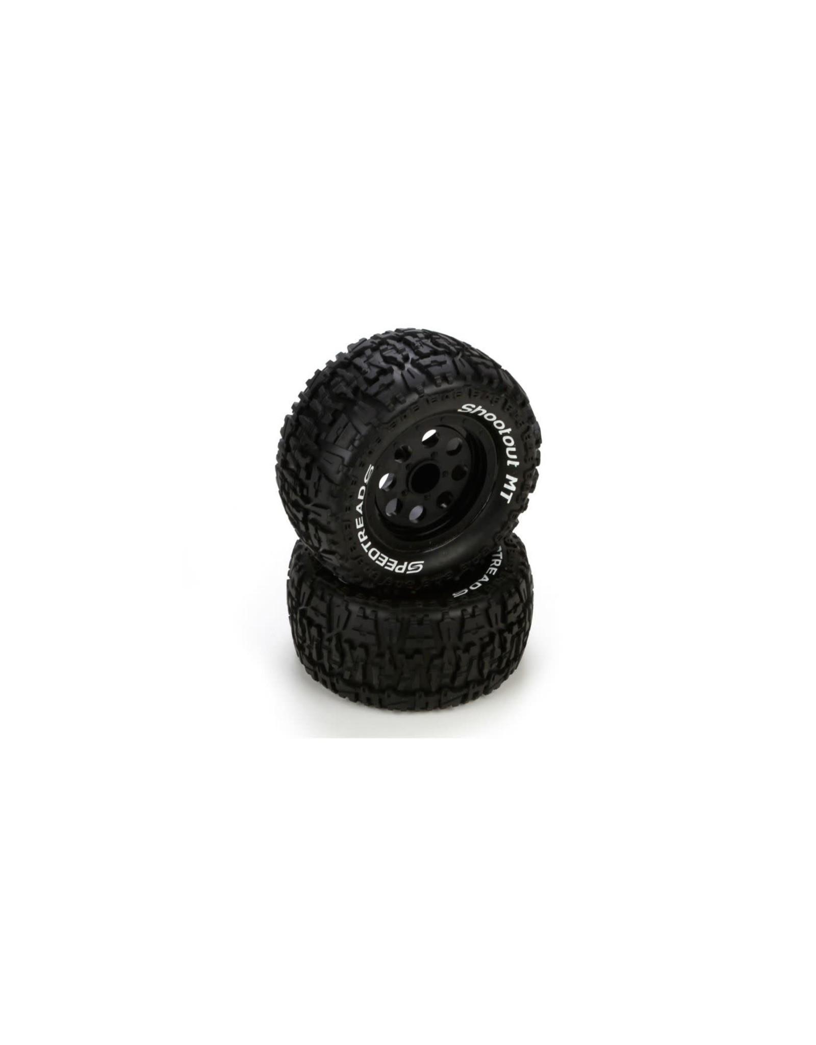 ECX ECx 43008 F/R Tire Prmnt, Blk(2) 1 10 2wd/4wd Ruckus