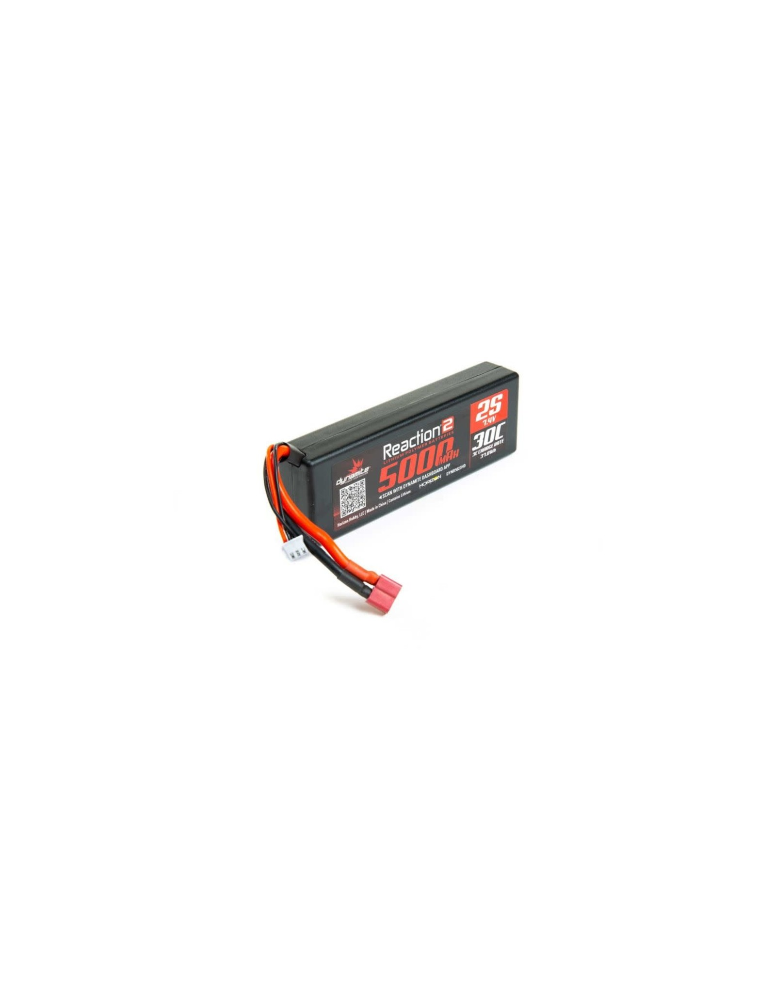 Dynamite Reaction 2 7.4V 5000mah 2S 30C Lipo Hrdcs Deans DYNB5023HD