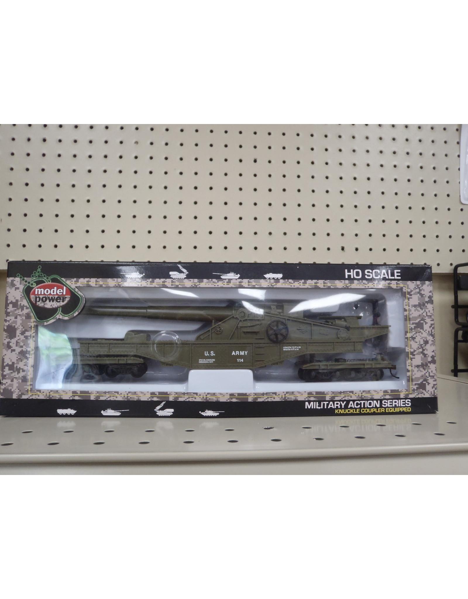 Model Power US Army Big Gun Car 99163