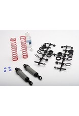 Traxxas 3762A Ultra Shocks (grey) (xx-long) (complete w/ spring pre-load spacers & springs) (rear) (2)