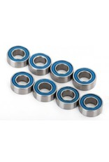 Traxxas Ball bearings, blue rubber sealed (4x8x3mm) (8)