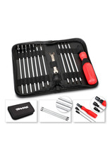 Traxxas Tool set with pouch (includes 1.5mm, 2.0mm, 2.5mm, 3.0mm, 3.5mm, 4mm drivers/ 4mm, 5mm, 5.5mm, 7mm and 8mm nut drivers/ 2mm, 4mm, and 5mm slotted screwdrivers/ #00 Phillips, #0 Phillips, and #1 Phillips screwdrivers/ 4mm and 8mm wrench/ driver handle