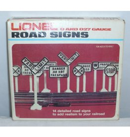 Lionel Lionel Road Signs O and O 27 Gauge