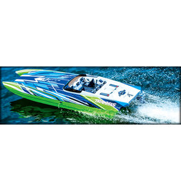Traxxas 57046-4_GRN DCB M41 Widebody:  Brushless 40' Race Boat with TQi Traxxas Link Enabled 2.4GHz Radio System & Traxxas Stability Management (TSM)