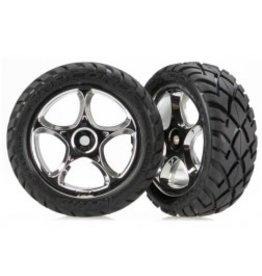 Traxxas T & W BLK CHRM 2 2/Ananconda tire 2479R