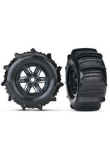 Traxxas T & W X Maxx Blk whl/Paddle Tire 7773