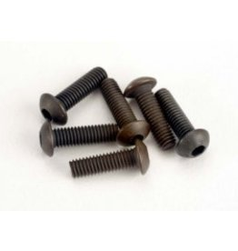 Traxxas Screws, 3x10mm button-head machine (hex drive) (6)