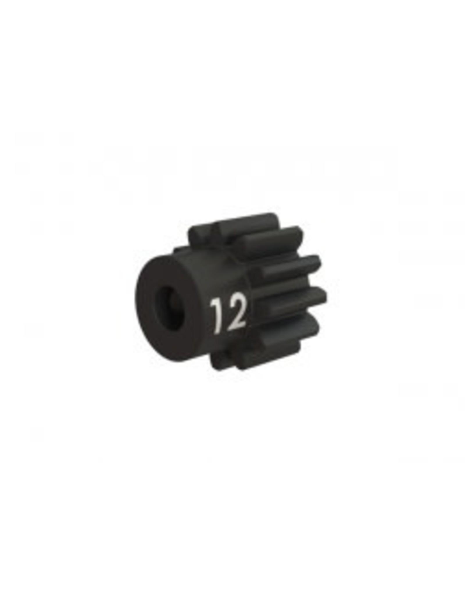 Traxxas Gear, 12-T pinion (32-p), heavy duty (machined, hardened steel)/ set screw
