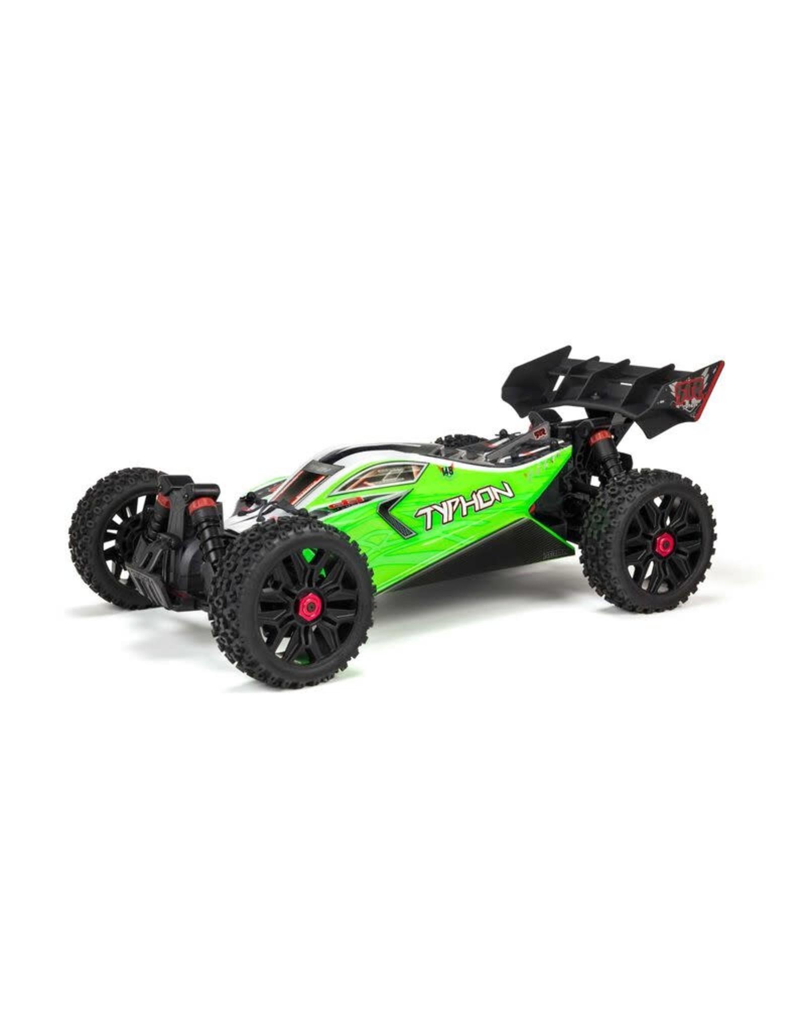 ARRMA 1/8 TYPHON 4X4 V3 MEGA 550 Brushed Buggy RTR, Green ARA4206v3