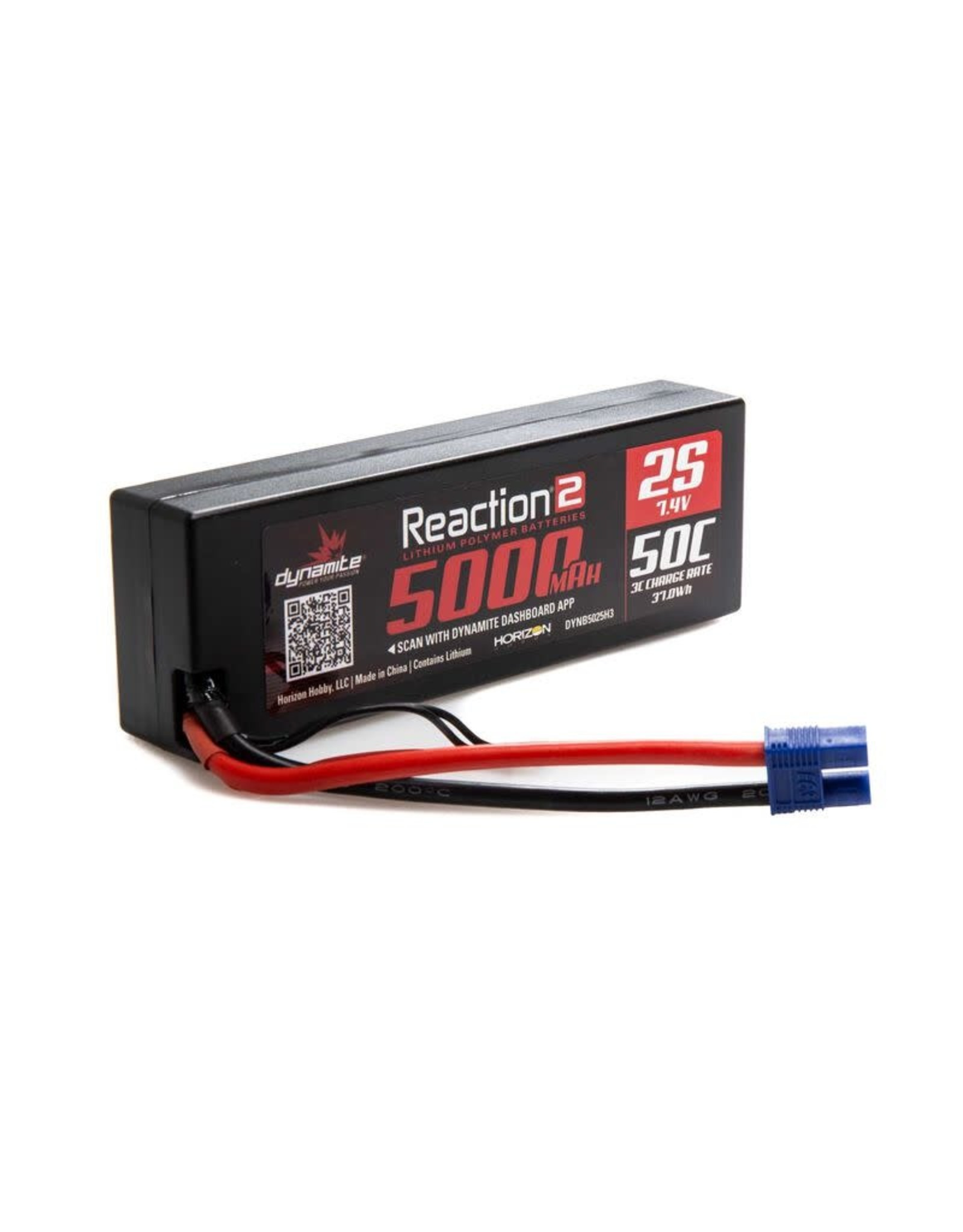 Reaction 2 Reaction 7.4  5000 Mah2s 50C LIpo Hrdcs EC3