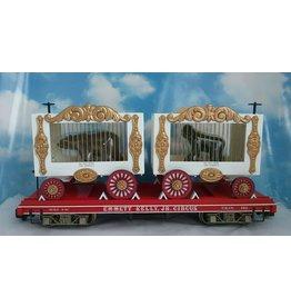 Bachmann G Scale Bachmann Emmett Kelly Circus Flat Car with Bear & Gorilla Wagons #162