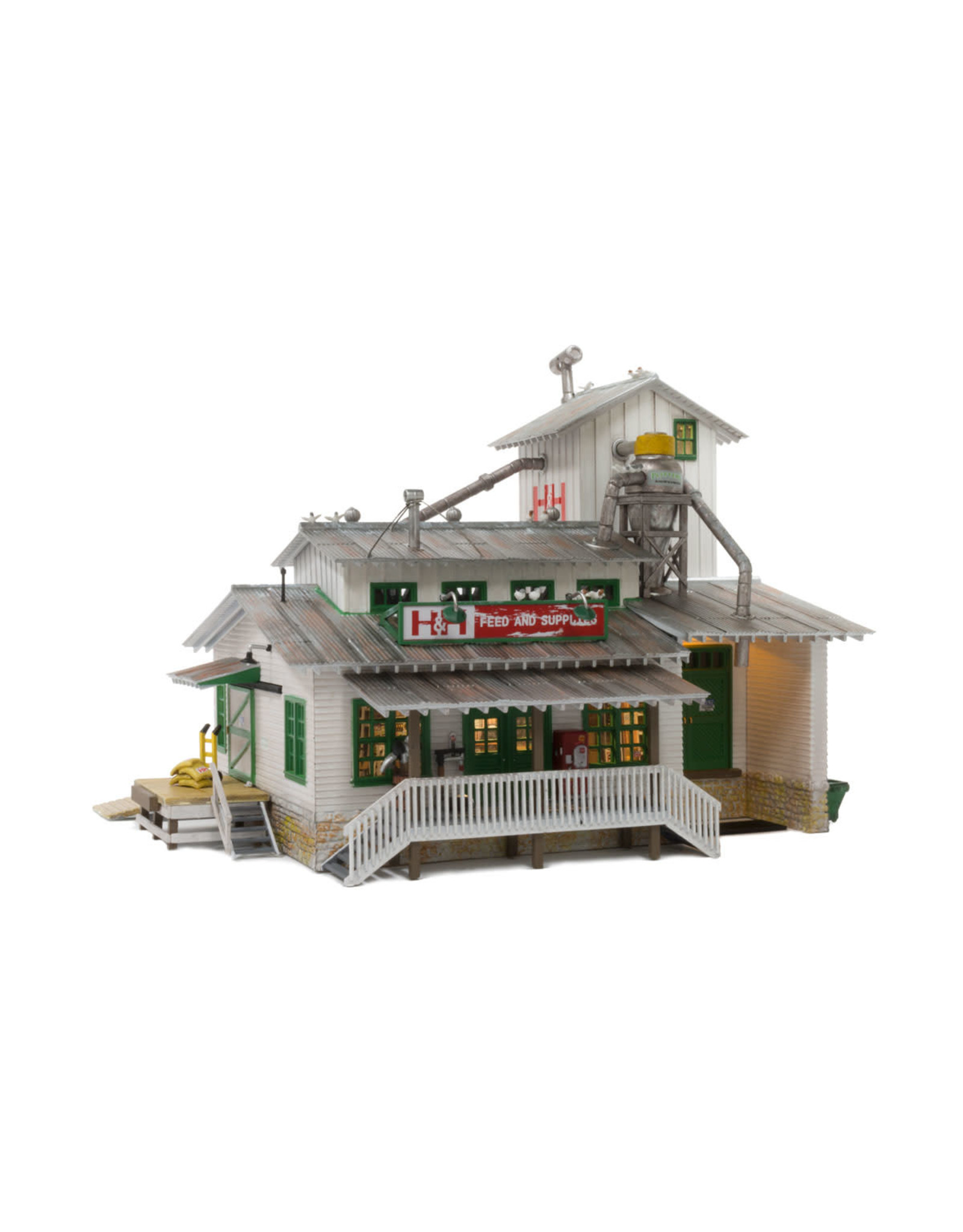 Woodland Scenic HO Built-Up H&H Feed Mill