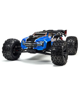 ARRMA 1/8 KRATON 6S V5 4WD BLX Speed Monster Truck with Spektrum Firma RTR, Blue