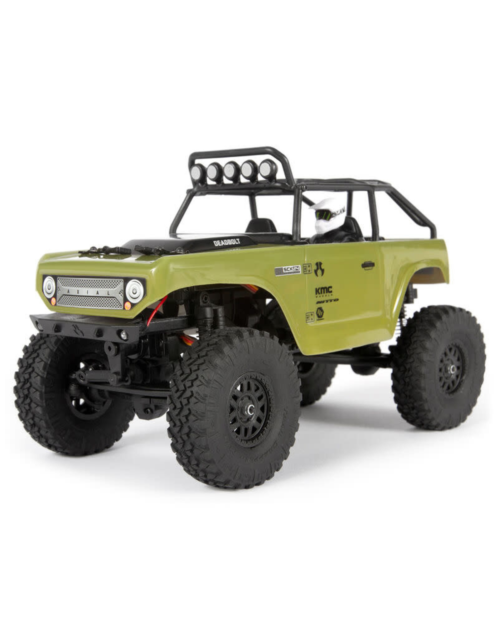 Axial 1/24 SCX24 Deadbolt 4WD Rock Crawler Brushed RTR, Green