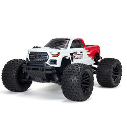 ARRMA 1/10 GRANITE 4X4 V3 MEGA 550 Brushed Monster Truck RTR, Red