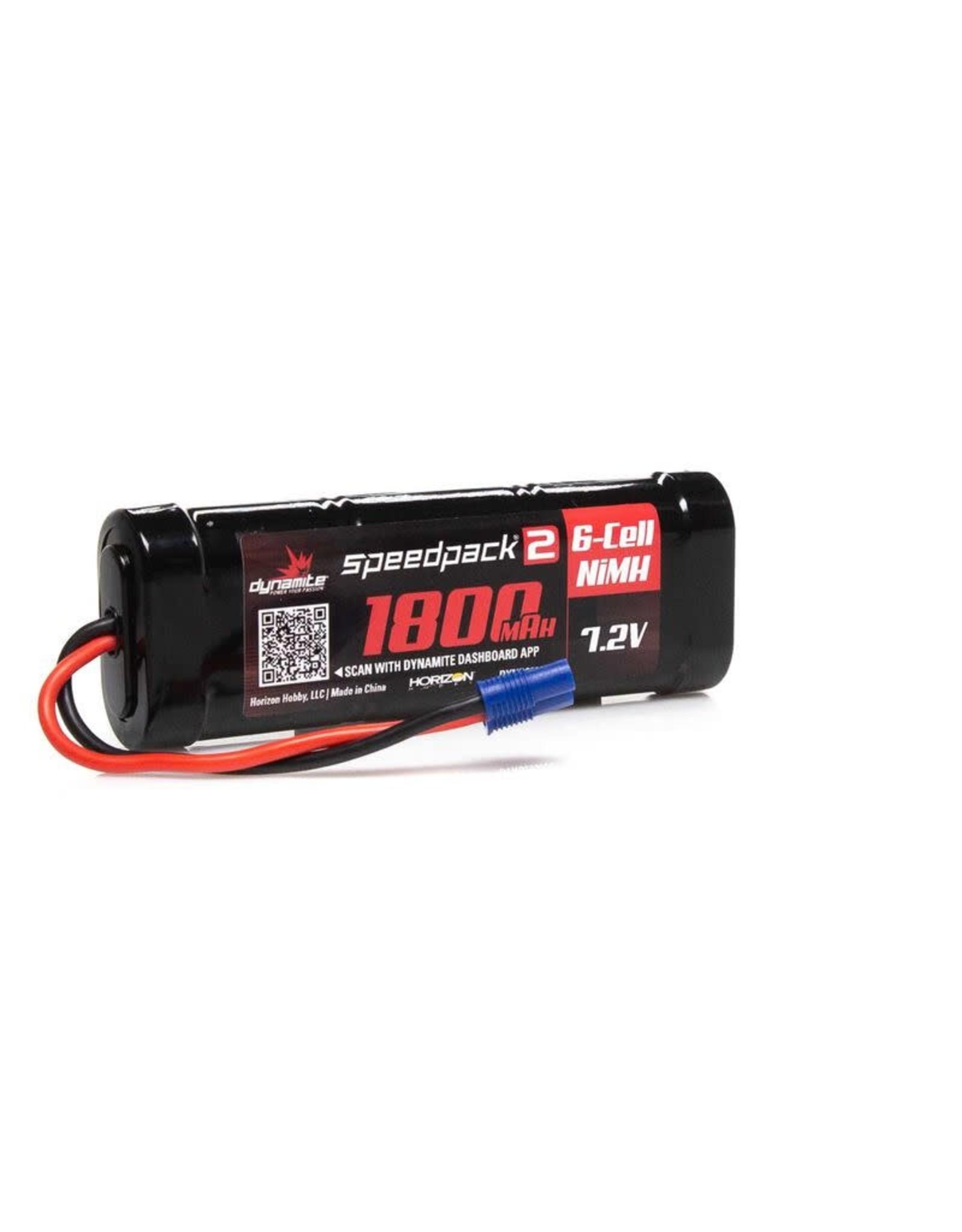 Dynamite 7.2V 1800mAh 6-Cell Speedpack2 Flat NiMH Battery: EC3
