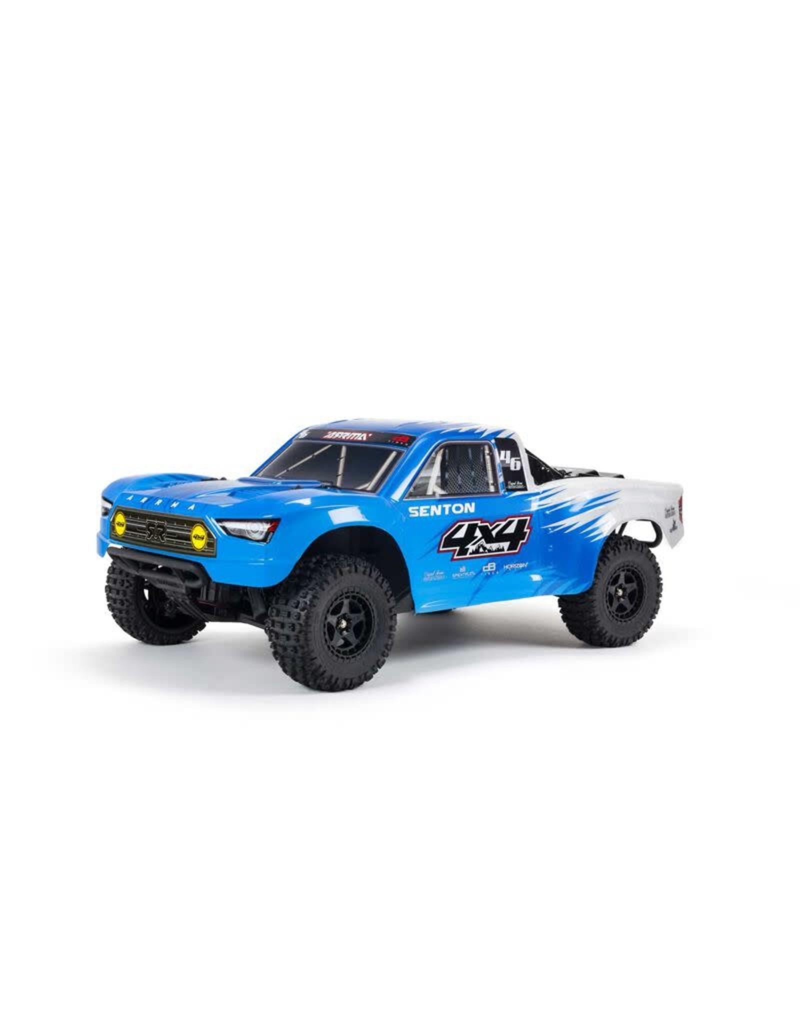 ARRMA 1/10 SENTON 4X4 V3 MEGA 550 Brushed Short Course Truck RTR, Blue