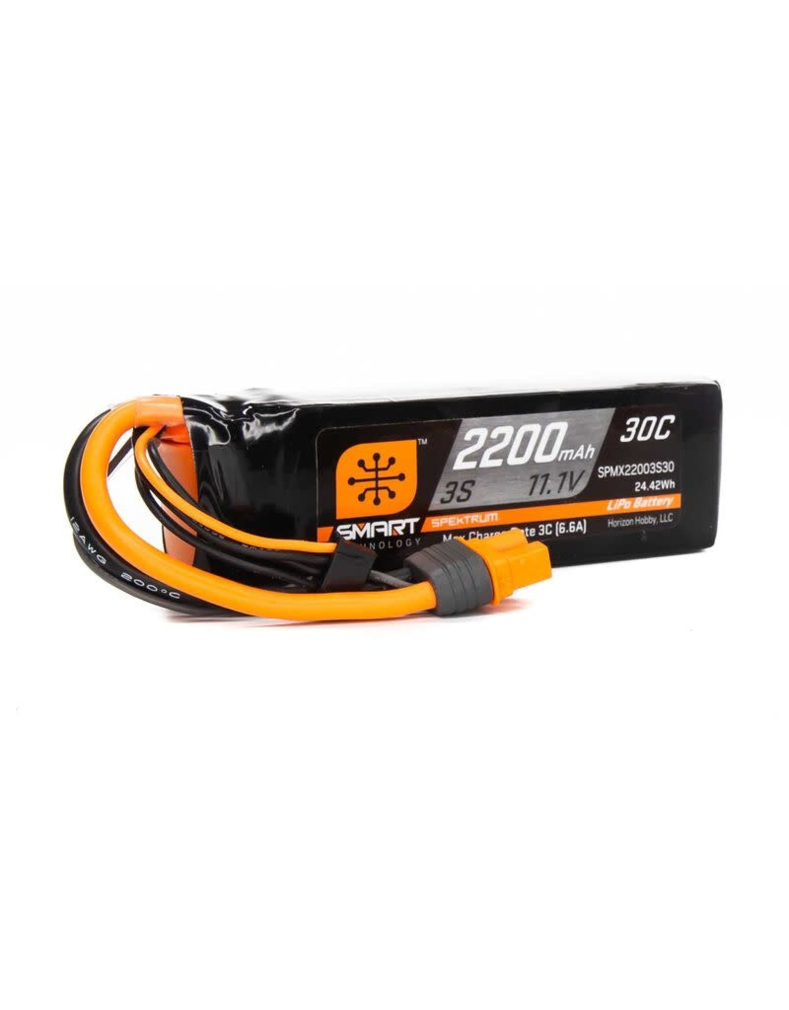 Spektrum 11.1V 2200mAh 3S 30C Smart LiPo Battery: IC3