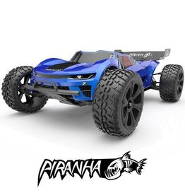 Redcat Racing Piranha TR10 1/10 Scale Brushed Electric Truggy - Includes: 2.4Ghz Radio, Battery, Charger, Ready to Run