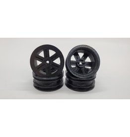 1.1 Wheels for Kyosho Mini-z 4x4 4-runner Jimny NO ADAPTERS Flat 6 Spoke PLA