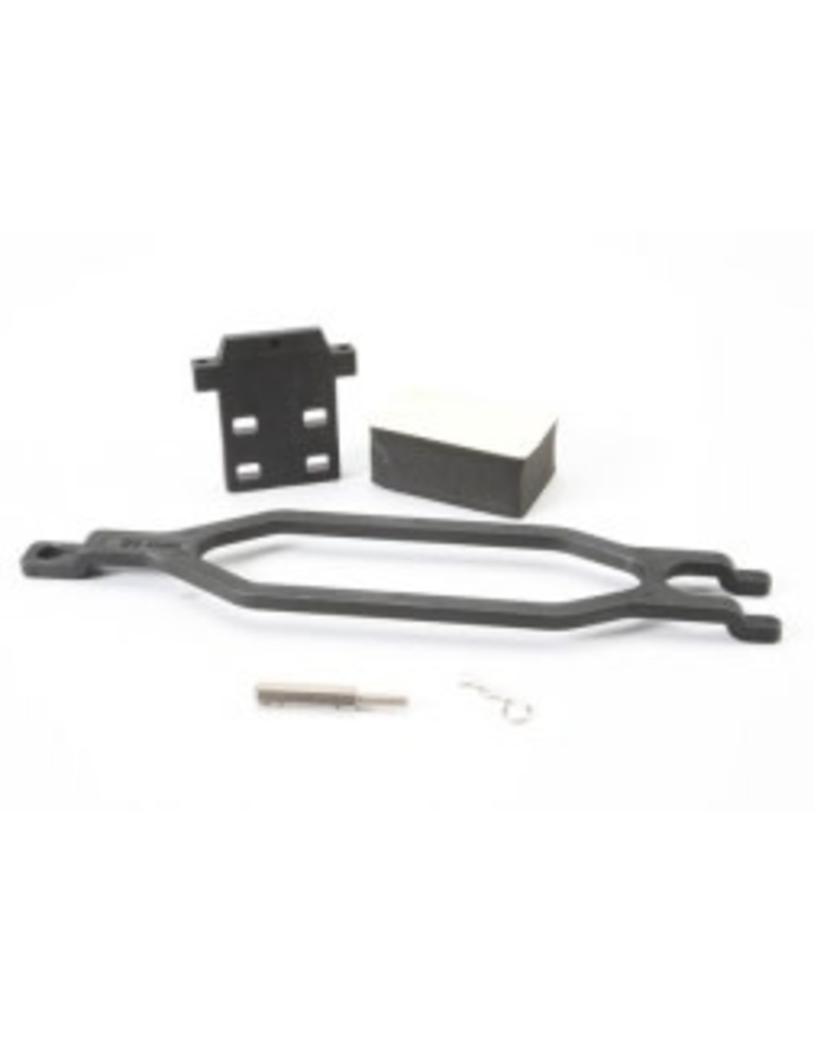 Traxxas [Hold down, battery/ hold down retainer/ battery post/ foam spacer/ angled body clip (allows for installation of taller, multi-cell batteries)] Hold down, battery/ hold down retainer/ battery post/ foam spacer/ angled body clip (allows for installation o