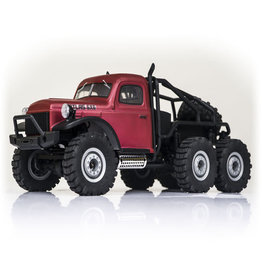 Atlas 1/18 Atlas 6x6 RTR Crawler, Red