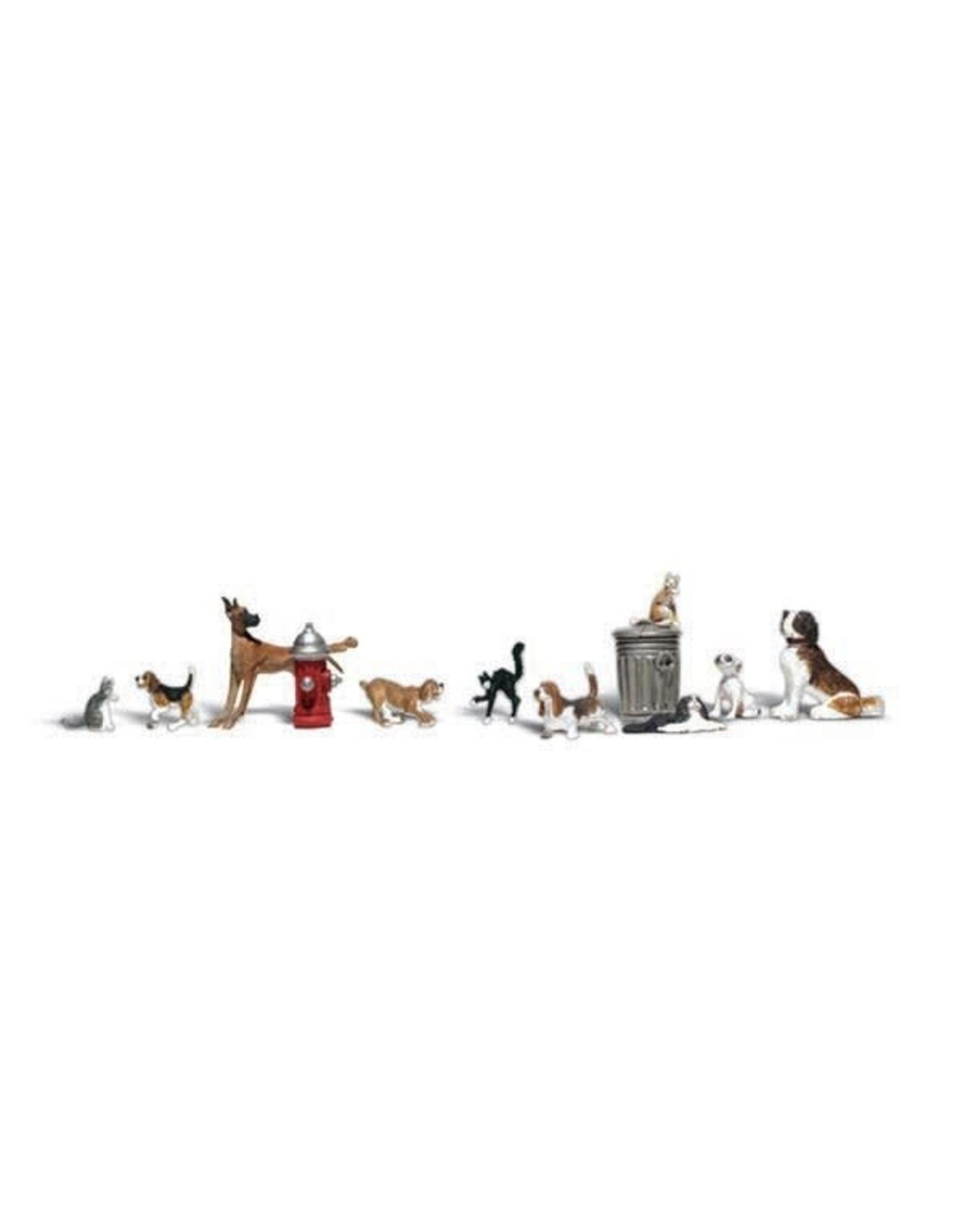 Woodland Scenics Dogs and Cats HO 1841
