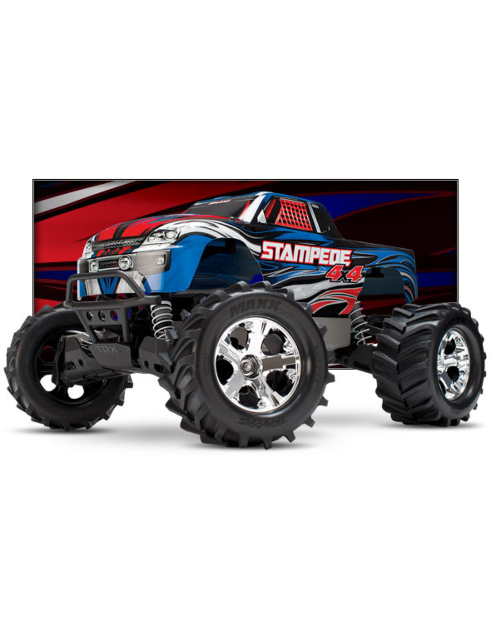 Traxxas 67054-1_BLUE Stampede Brushed 4X4: 1/10-scale Blue