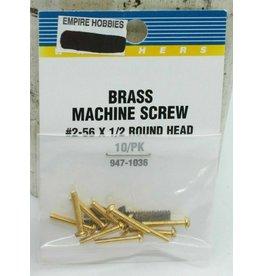 Walthers Brass Machine Screws 1/2 #2-56 947-1036