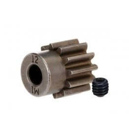 Traxxas Gear, 12-T pinion (1.0 metric pitch) (fits 5mm shaft)/ set screw (for use only with steel spur gears)