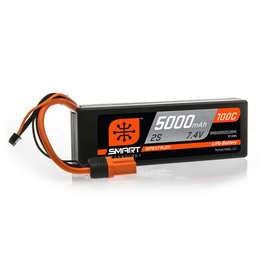 'Spektrum 7.4V 5000mAh 2S 100C Smart Hardcase LiPo Battery: IC5