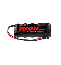 Venom 6.0V 1600mAh 5-Cell DRIVE NiMH Flat Receiver Battery: Universal Receiver
