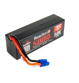 Reaction 11.1V 5000mAh 3S 50C Reaction 2.0 Hardcase LiPo Battery: EC3