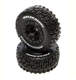 Duratrax SpeedTreads Breakaway SC Front Black Mounted (2): Traxxas Slash/Rustler, ECX 4X4