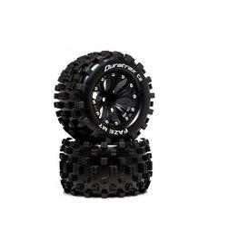 Duratrax FAZE MT 2.8 2WD Mounted R C2 .5 Offset Black (2)