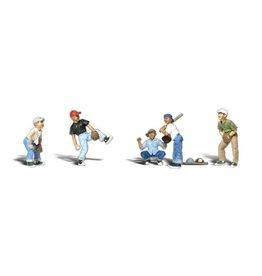 Woodland Scenics Scenic Accents(R) Figures -- Baseball Players I (Pitcher, Catcher, Batter, 2 Outfielders) pkg(5)