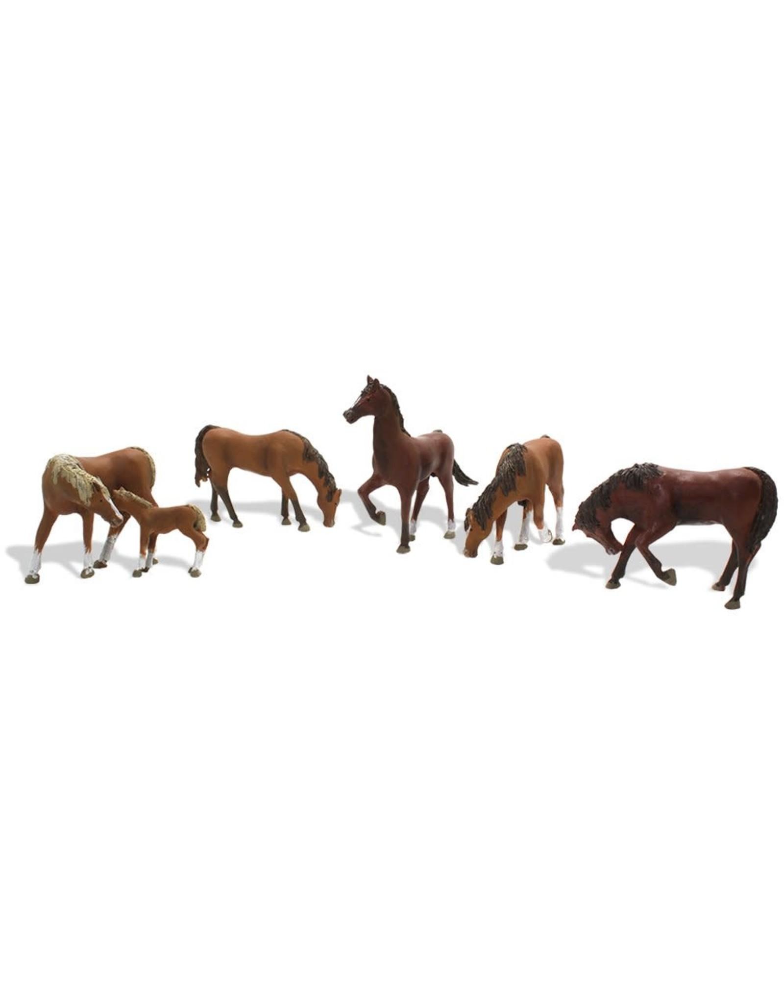 Woodland Scenics Chestnut Horses HO 1842
