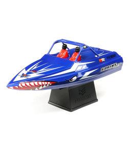 """Proboat Sprintjet 9"""" Self-Righting Jet Boat Brushed RTR, Blue"""