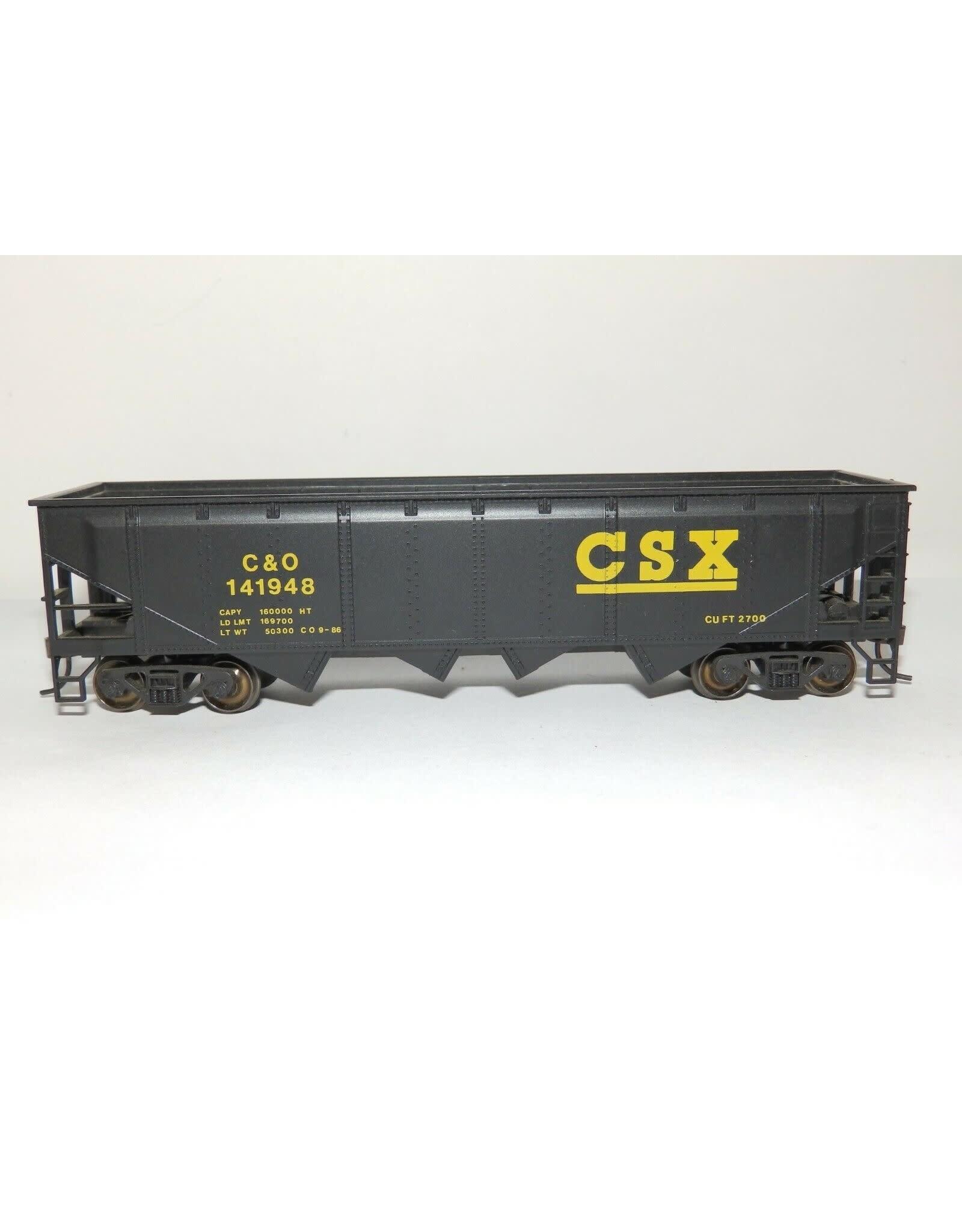 Bachmann BACHMANN SILVER HO scale CSX C&O #141948 QUAD HOPPER 40' KADEE'S & STEEL WHEELS
