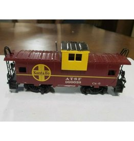 Bachmann HO Scale Santa Fe ATSF $999628 CE-6 Caboose Freight Car in Excellent Condition metal wheels and couplers