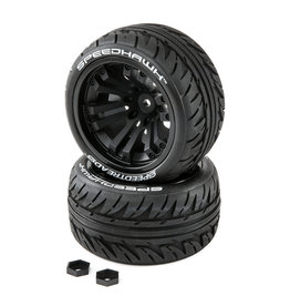 Duratrax SpeedTreads Speedhawk Tires Mounted (2): 1/10 Stadium/Monster Truck