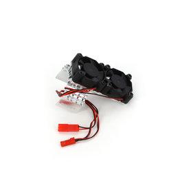 Integy Motor Heatsink / Twin Fan, Silver: Slash 4X4