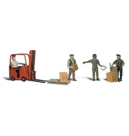 Woodland Scenics Workers with Forklift HO1911