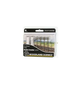 Woodland Scenic Pre-Wired Poles - Double Crossbar - N Scale