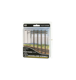 Woodland Scenic Pre-Wired Poles - Double Crossbar - HO Scale