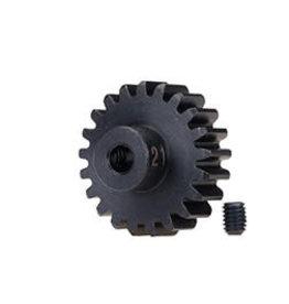 Traxxas [Gear, 21-T pinion (32-p), heavy duty (machined, hardened steel)/ set screw] Gear, 21-T pinion (32-p), heavy duty (machined, hardened steel)/ set screw