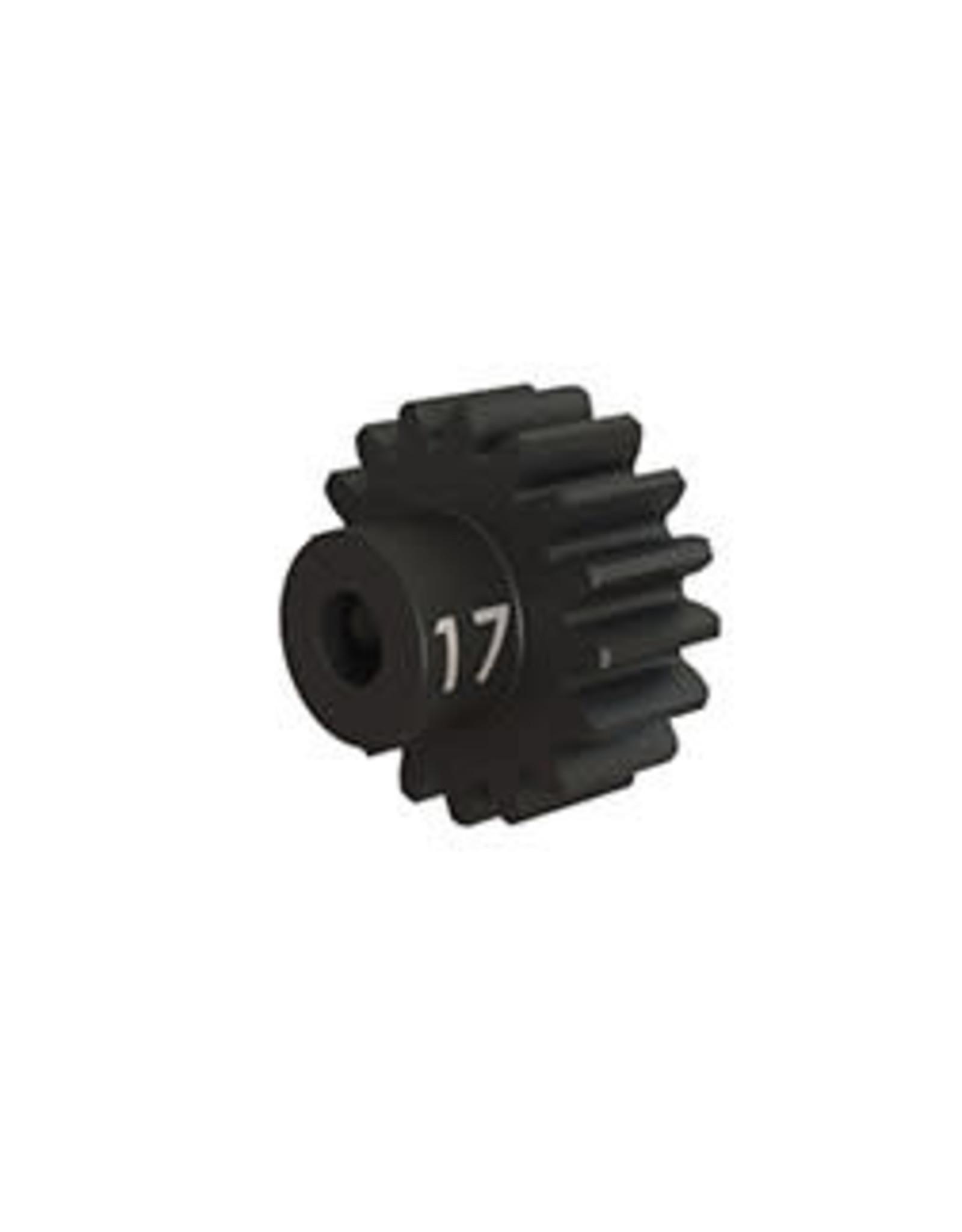 Traxxas Gear, 17-T pinion (32-p), heavy duty (machined, hardened steel)/ set screw